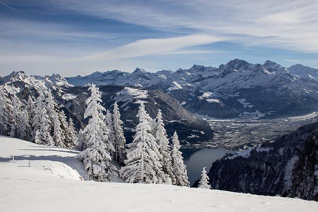 Switzerland, Winter, Landscape, Snow, Mountains, Wintry