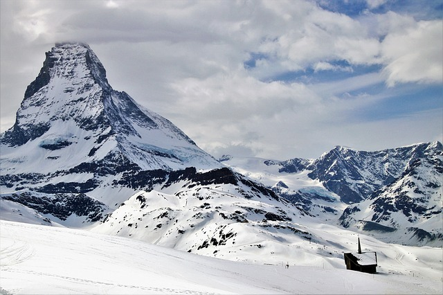 The Alps, Matterhorn, Zermatt, Snow, Mountain, Winter