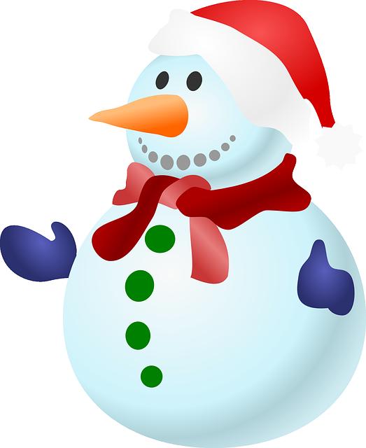 Snowman, Christmas, Snow, Cold, Winter, Frozen, Gloves