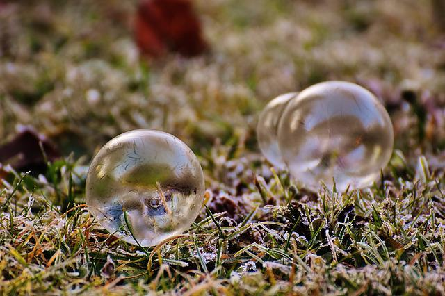 Soap Bubble, Frozen, Winter, Frozen Bubble, Cold