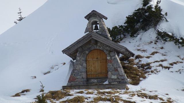 Tyrol, Tannheim, Grän, Sonnenalm, Chapel, Winter, Snow