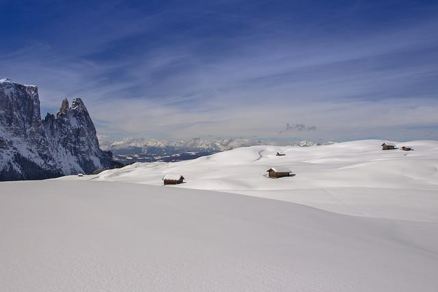 Snow, Winter, Alpine Hut, Landscape, South Tyrol