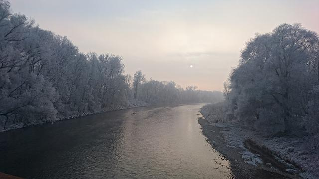Isar, Winter, Landscape, Winter Trees, Snow, Wintry