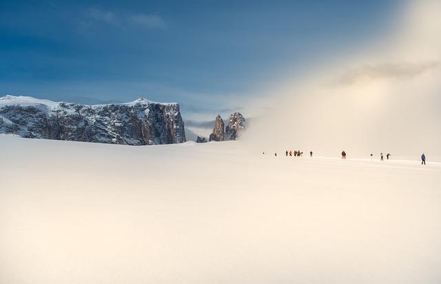 Winter, Snow, Skiers, Landscape, Wintry, Mystical