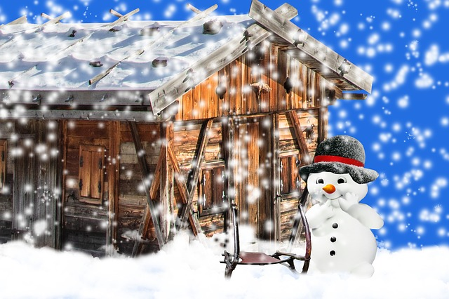 Winter, Snow, Wintry, Snowman, Slide, Snowfall, Hat
