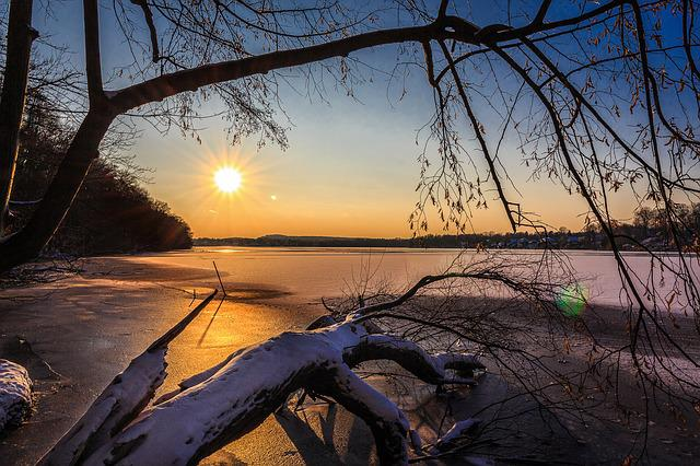 Winter, Lake, Snow, Ice, Cold, Landscape, Wintry