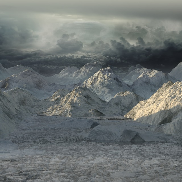 Landscape, Winter, Wintry, Mountains, Lighting
