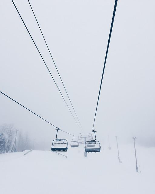 Cable Car, Cold, Lift, Ski Lift, Snow, Winter, Wire
