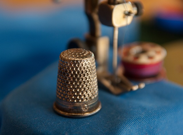 Thimble, Couture, Sewing Machine, Wire