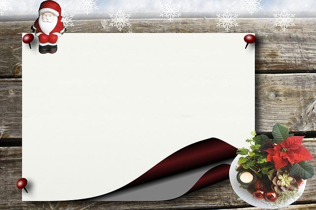 Wish List, Santa Claus, Bulletin Board, Christmas