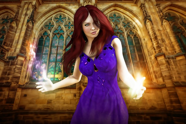 Witch, Sorcerer, Woman, Female, Young, Medieval, Magic