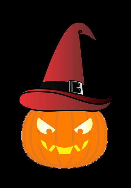 Pumpkin, Witch's Hat, Red Hat, Halloween, Fear