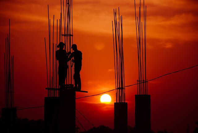 Landscape, Sunset, Peoples, Hard, Working, Work, With