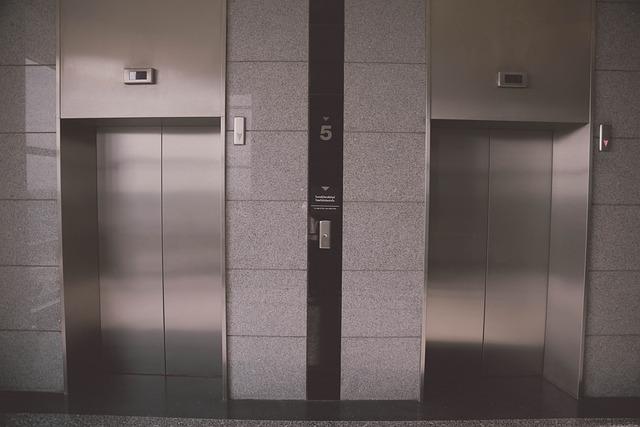 Elevator, A Beautiful View, Building, Door, Within