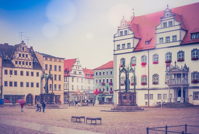 City, Wittenberg, Germany, Old Town, Grunge