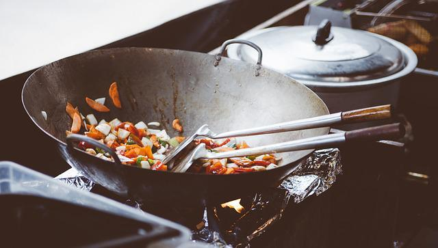 Cooking, Wok, Chinese, Asian, Food, Frying Pan, Meal