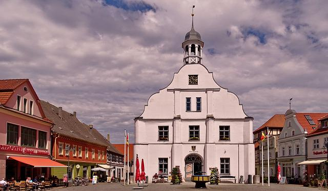 Usedom, Wolgast, Marketplace, Old Town Hall