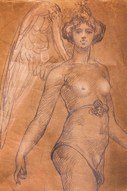 Woman, Breasts, Justitia, Chest Strap, Angel, Wing
