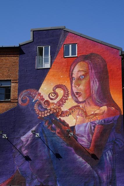 Building, Painted, Graffiti, Artwork, Wall, Woman, Huge