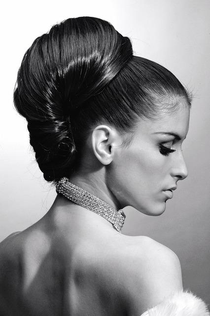 Portrait, Woman, Hairstyle, Elegant, Necklace, Back