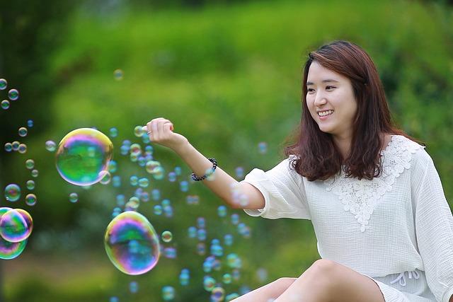 Woman, People, Beautiful, Korea, Balloon