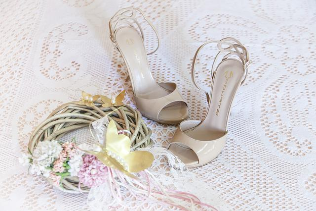 Woman, Sandals, Wedding Dresses, Bride, Decoration