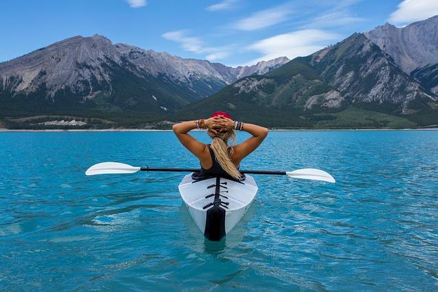 Woman, Paddle, Kayak, Canoe, Kayaking, Canoeing, Relax