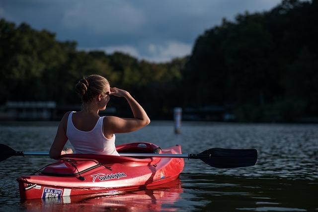 Woman, Kayaking, Boat, Canoe, Canoeing, Paddle