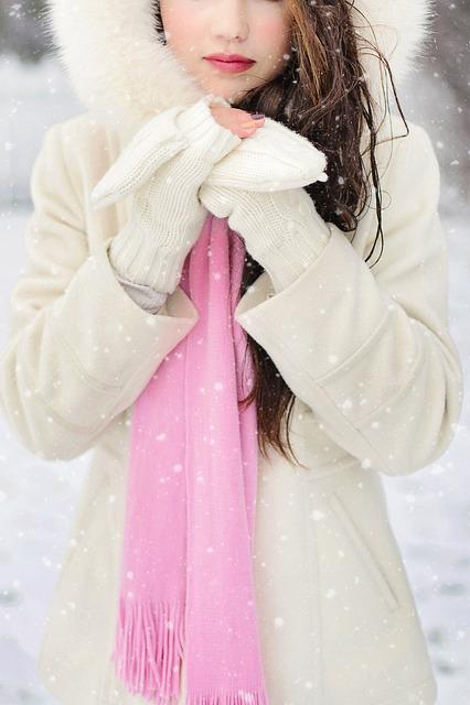 Winter, Cold, Woman, Snow, Season, Christmas, December
