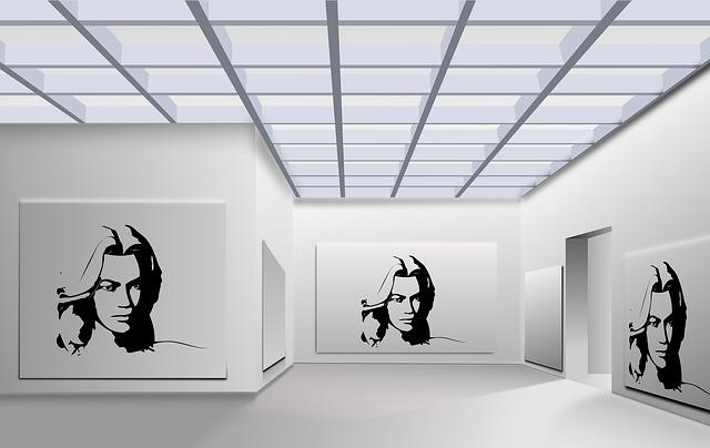 Space, Gallery, Woman, Portrait, Face, Exhibition, Art