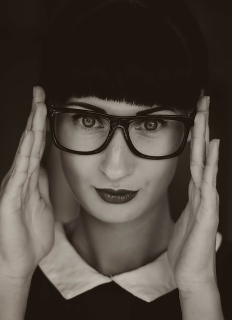 Black And White, Person, Woman, Head, Face, Portrait
