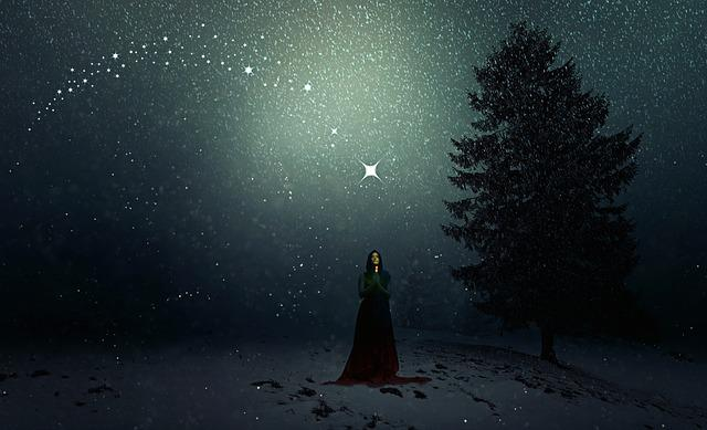Winter, Snowfall, Woman, Christmas, Fee, Fairy Tales