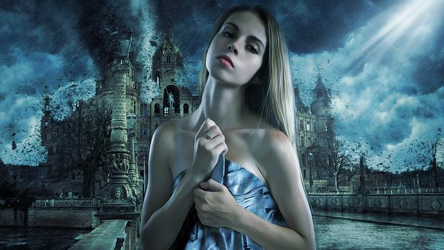 Woman, Beautiful, Fantasy, Art, Girl, Portrait, Storm