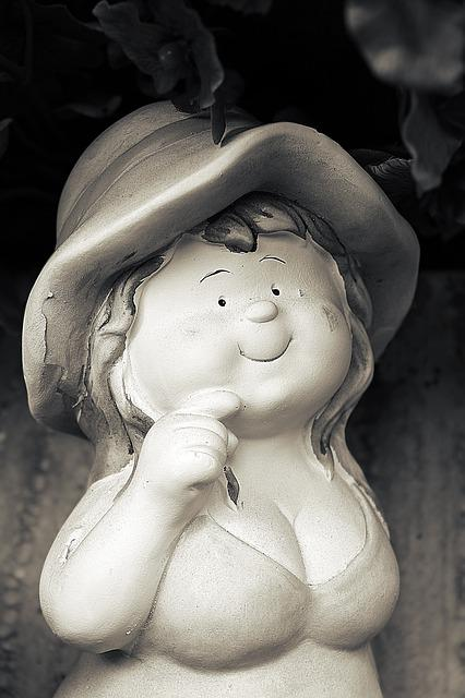 Figure, Girl, Woman, Garden Figurines, Flora, Autumn