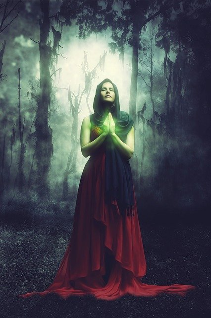 Woman, Fantasy, Forest, Magic, Surreal, Nature