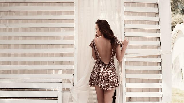 Dress, Back View, Girl, Fashion, Woman, Model, Sexy