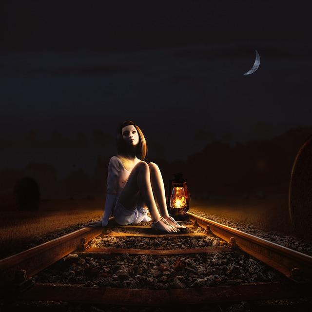 Adult, Woman, Dark, People, Light, Girl, Portrait