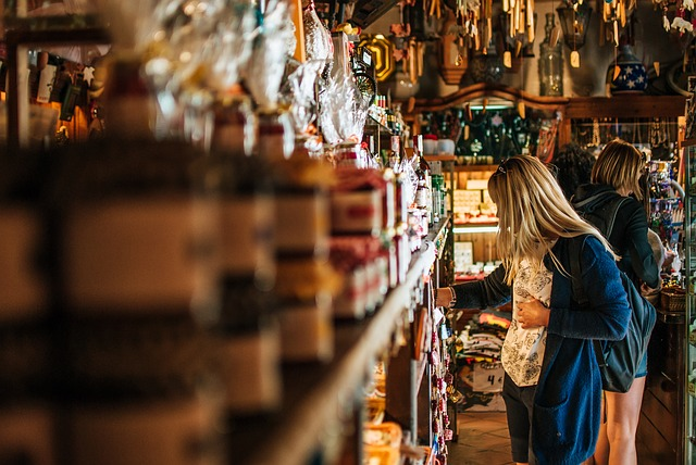 Girl, Woman, Shop, Souvenirs, Shelf, Work, Shopping