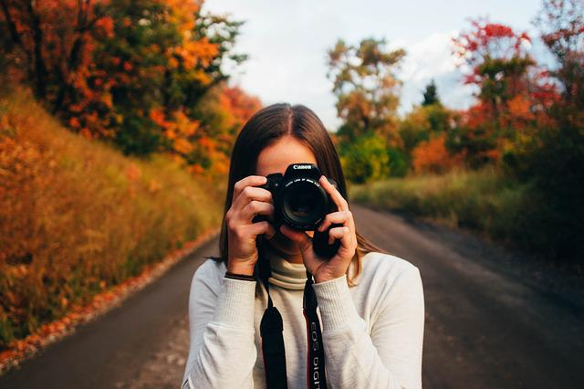 Camera, Canon, Girl, Lens, Person, Taking Photo, Woman