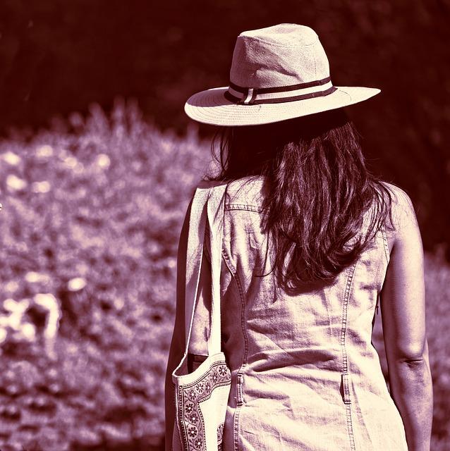 Person, Hat, Straw Hat, Headgear, Woman, Hair