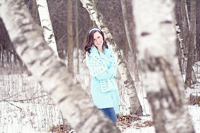 Girl, Woman, Pretty, Nice, Laughing, Happy, Snow