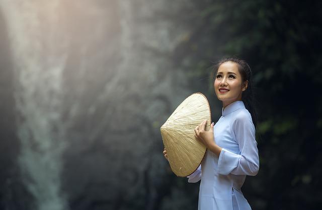 Adult, Asia, Woman, Girl, Hat, People, Vietnamese