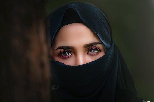 Hijab, Headscarf, Portrait, Veil, Woman, Eye, Girl
