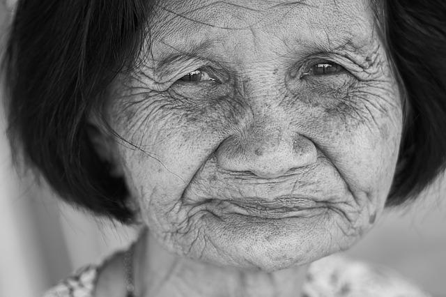 Old, Human, Portrait, Black And White, Woman, Face