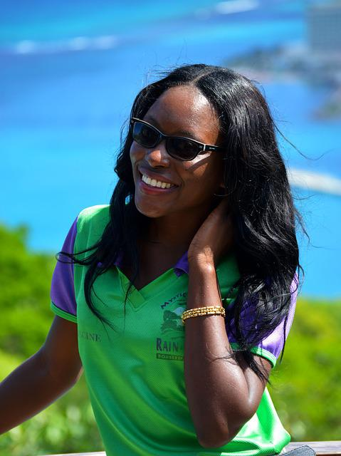 Jamaica, Island, Woman, Black Skin, Smile