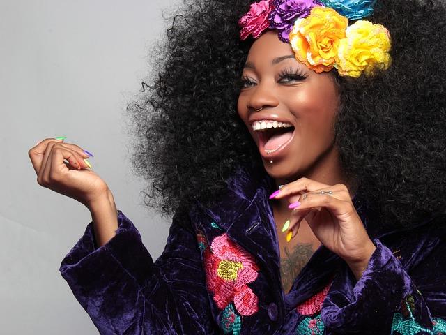 Smile, Color, Laugh, Black, African American, Woman