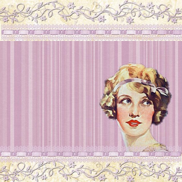 Background, Lilac, Lady, Woman, Twenties, Scrapbook