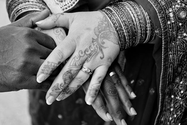 Hands, Ring, Wedding, Henna, Marriage, Man, Woman