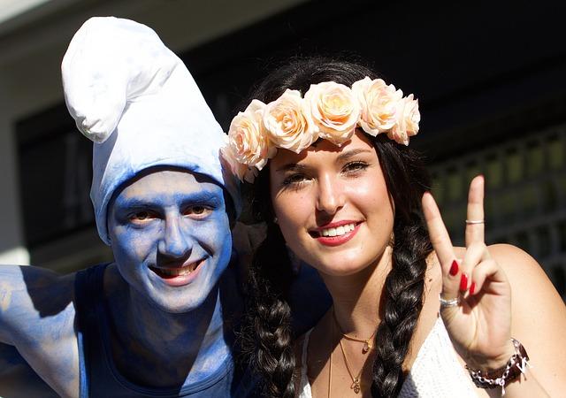 Human, Man, Woman, Street Parade, Smurf, Rosenfee