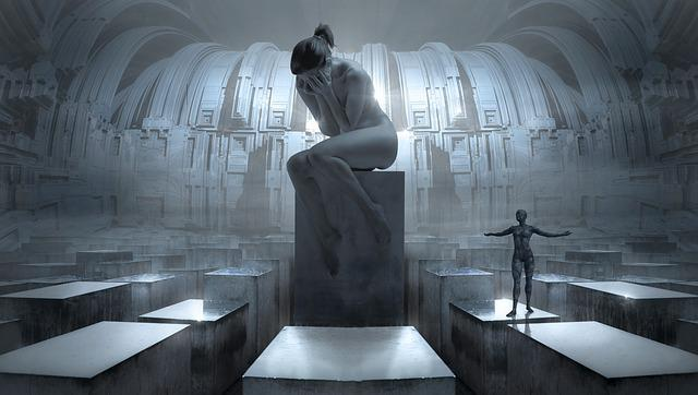 Fantasy, Monument, Woman, Statue, Memorial